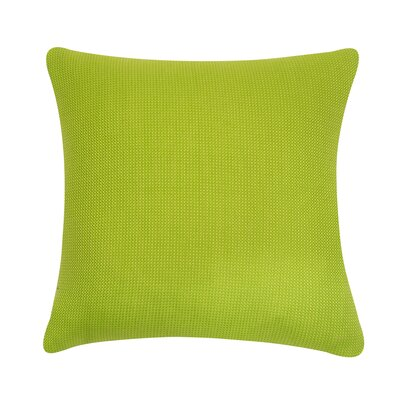 D�cor Alyssa Luvs Indoor/Outdoor Throw Pillow Size: 20 H x 20 W x 6 D, Color: Lemon Grass