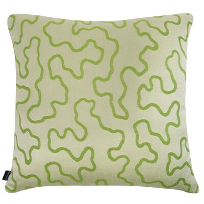 D�cor Squiggly Indoor/Outdoor Sunbrella Throw Pillow Size: 22 H x 22 W x 6 D, Color: Key Lime Green