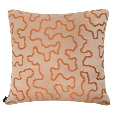 D�cor Squiggly Indoor/Outdoor Sunbrella Throw Pillow Size: 16 H x 16 W x 6 D, Color: Tangerine Orange