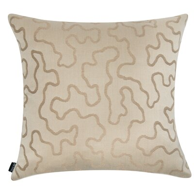 D�cor Squiggly Indoor/Outdoor Sunbrella Throw Pillow Size: 22 H x 22 W x 6 D, Color: Sand