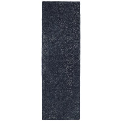 Otisville Hand-Tufted Denim Area Rug Rug Size: Runner 26 x 8