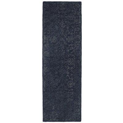Otisville Hand-Tufted Denim Area Rug Rug Size: Runner 26 x 8
