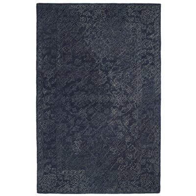Otisville Hand-Tufted Denim Area Rug Rug Size: Rectangle 36 x 56