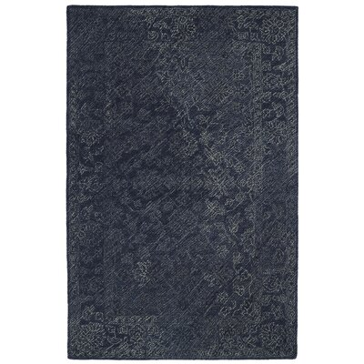 Otisville Hand-Tufted Denim Area Rug Rug Size: Rectangle 9 x 12