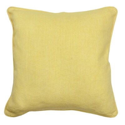 Morrice Cotton Throw Pillow Color: Daffodil