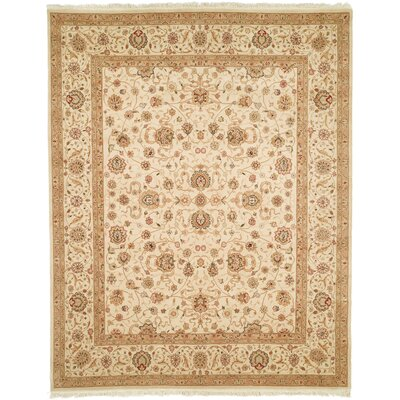 Everest Hand-Woven Beige Area Rug Rug Size: Rectangle 86 x 116