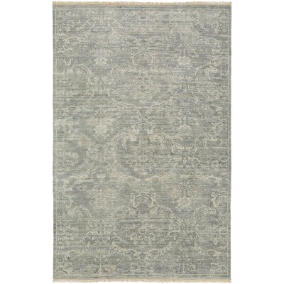 Adelphia Light Gray/Ivory Area Rug Rug Size: Rectangle 56 x 86
