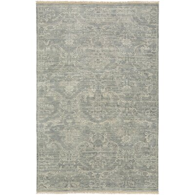 Adelphia Light Gray/Ivory Area Rug Rug Size: Rectangle 86 x 116
