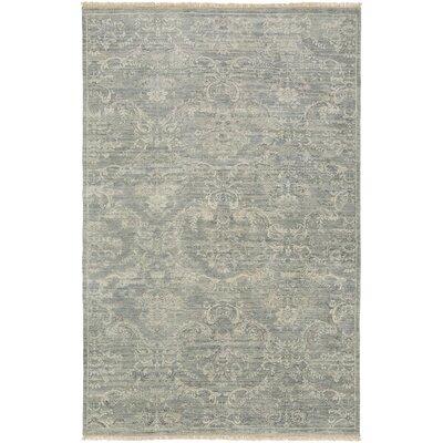 Adelphia Light Gray/Ivory Area Rug Rug Size: 86 x 116