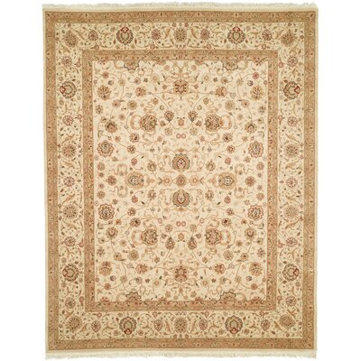 Everest Hand-Woven Beige Area Rug Rug Size: 86 x 116