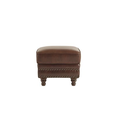 Franciscan Leather Ottoman