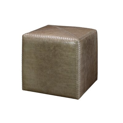 Gustavus Leather Ottoman Upholstery: Taupe