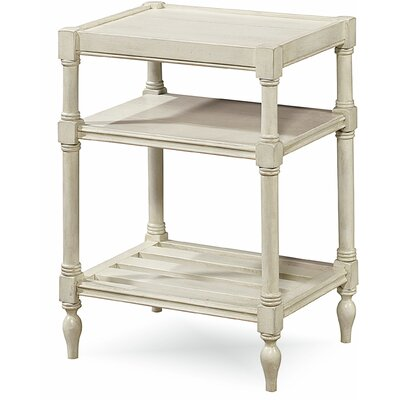 Payton Chairside Table Color: White