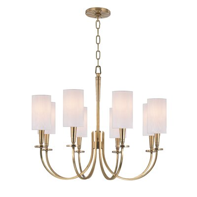 Regents 8-Light Shaded Chandelier Finish: Aged Brass
