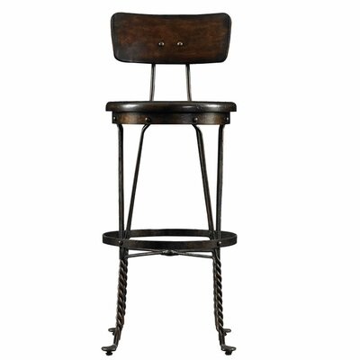 Howell 30 Bar Stool Upholstery: Distressed Terrain