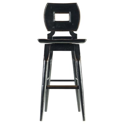 Highcliffe 29.5 Swivel Bar Stool Finish: Ebony