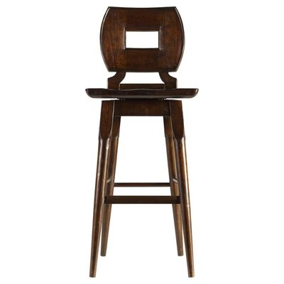 Highcliffe 29.5 Swivel Bar Stool Finish: Barrel