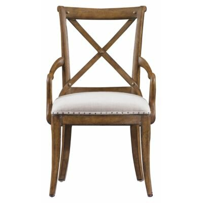 Howell Arm Chair Finish: Distressed Blond