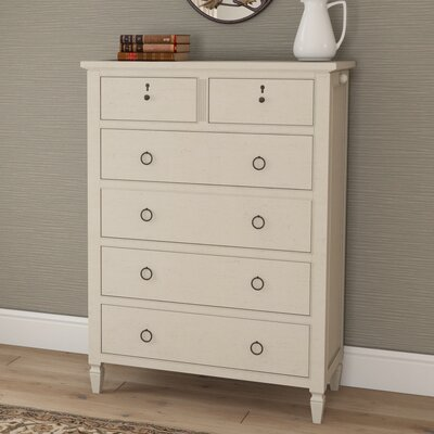 Causey Park 6 Drawer Chest Finish: Cotton