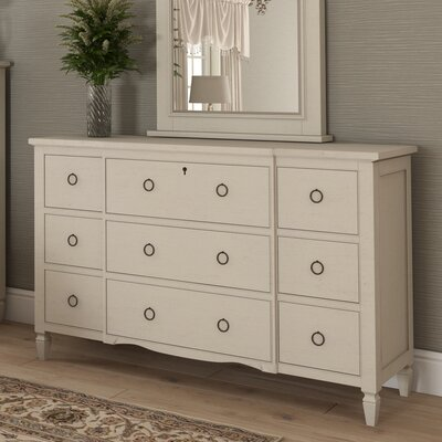 Causey Park 9 Drawer Dresser Finish: Cotton-hued