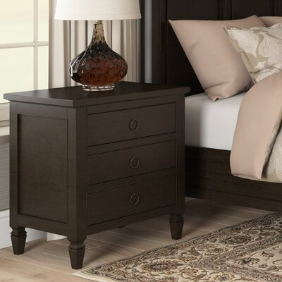 Causey Park 3 Drawer Nightstand Finish: Midnight