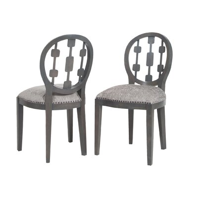 Ferndale Solid Wood Dining Chair Upholstery Color: Gray