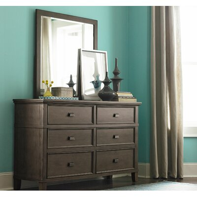 Bois 6 Drawer Dresser with Mirror