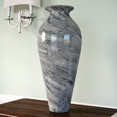 Marbleized Glass Vase