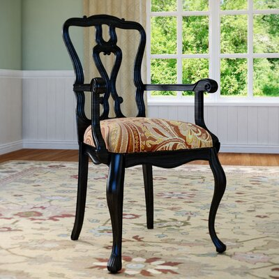 Hepburn Arm Chair Arm Chair Finish: Raven
