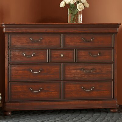 Davison 9 Drawer Dressing Chest Finish: Orleans