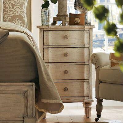 Lewiston 4 Drawer Nightstand Finish: Vintage White