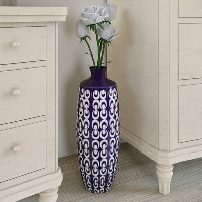 Textured Ceramic Vase Size: Large