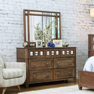 Roscommon 7 Drawer Dresser with Mirror