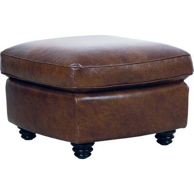 Clairsville Leather Ottoman