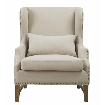 Governor Wing Arm Chair Upholstery: Beige