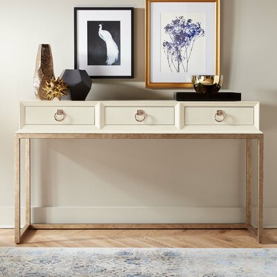 Capistrano Major Console Table Finish: Parchment