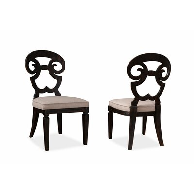 Reilley Solid Wood Dining Chair Frame Color: Black