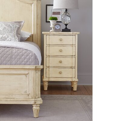 Bella 4 Drawer Nightstand Color: Vintage White