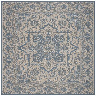 Dunnyvadden Cream/Blue Area Rug Rug Size: Square 67