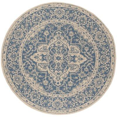 Hoover Blue/Beige Area Rug Rug Size: Round 67