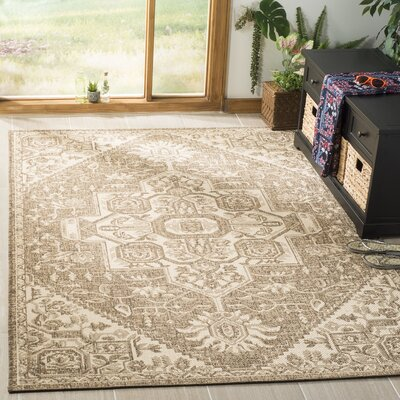 Dunnyvadden Cream/Beige Area Rug Rug Size: Rectangle 4 x 6