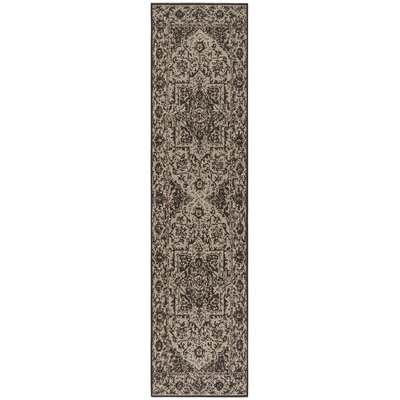 Hoover Brown Area Rug Rug Size: Runner 2 x 8