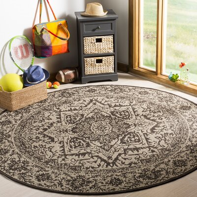 Hoover Brown Area Rug Rug Size: Round 67