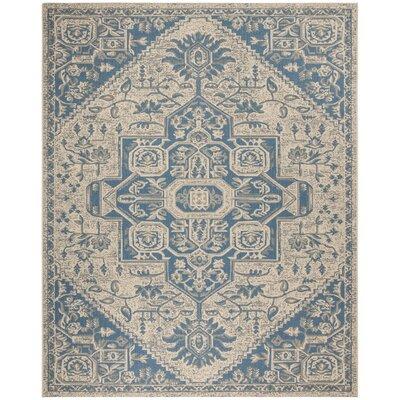 Dunnyvadden Blue/Cream Area Rug Rug Size: Rectangle 8 x 10