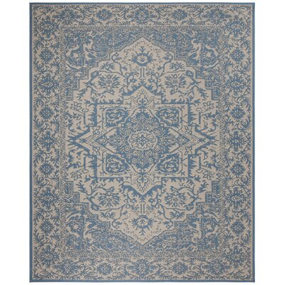 Dunnyvadden Cream/Blue Area Rug Rug Size: Rectangle 8 x 10
