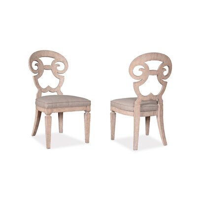 Reilley Solid Wood Dining Chair Frame Color: Weathered Cream
