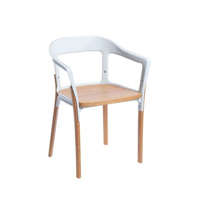 Jasper Solid Wood Dining Chair Finish: White