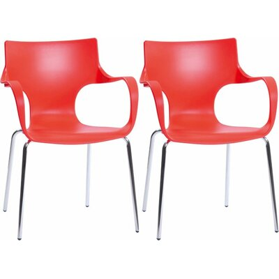 Phin Arm Chair Finish: Red
