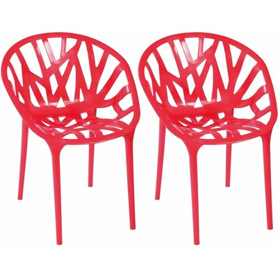 Branch Side Chair Finish: Red