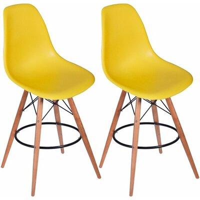 Paris Tower 27 inch Bar Stool Upholstery: Yellow